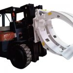 Forklift Attachments 360 Rotasi Single Arm Paper Clamps Roll