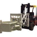 Forklift Ban Penanganan Lampiran Telescopic Tire Clamps