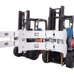 Hidrolik Forklift 25f Paper Roll Clamp Parts Digunakan Dalam Menghadapi Papan Gipsum