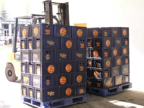 Penggunaan Double Sideshifter Dalam Industri Minuman